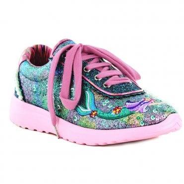 1f47cb2bb0056 Irregular Choice Mermazing 4473-02A Womens Fashion Trainers - Pink