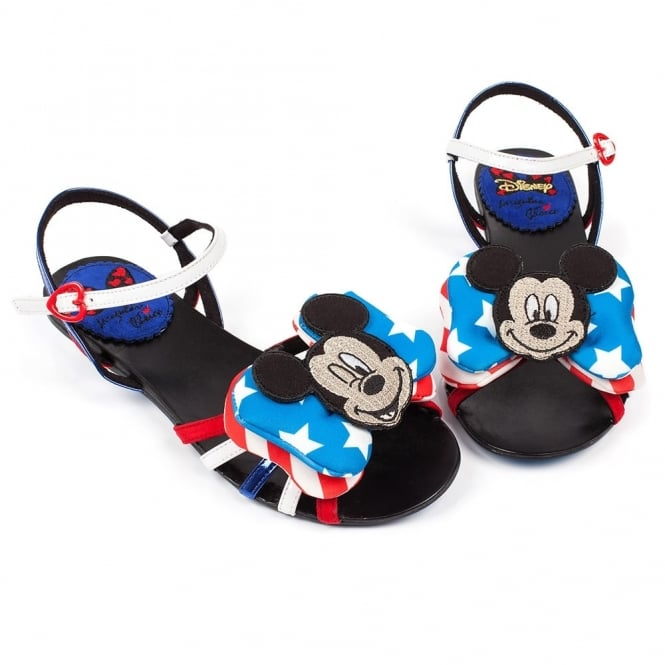Irregular Choice Mickey Mouse & Friends Oh Toodles 3492-17A Sandals - Red, White And Blue