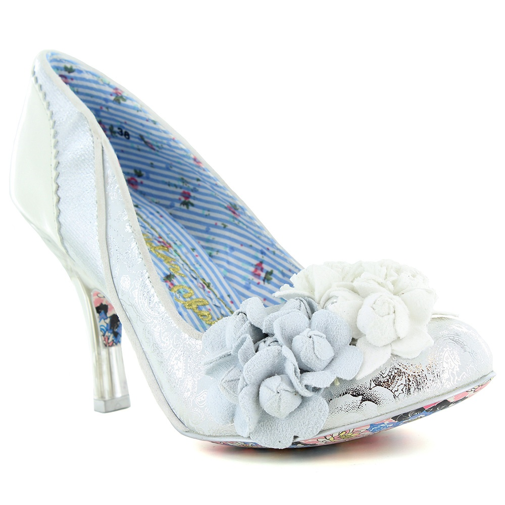 Mrs Lower 4009-2C Womens Wedding Court Shoes - Silver