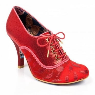 Irregular Choice Naughty Treat 3614-60E Womens Court Shoes - Red