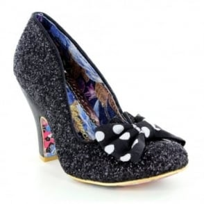 Irregular Choice Nick Of Time 4135-14Z Womens Court Shoes - Black