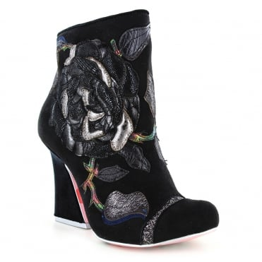 Irregular Choice Theodore 4351-03B Womens Ankle Boots - Black