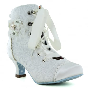 Joe Browns Hitched A0321 Womens Wedding Boots - Ivory