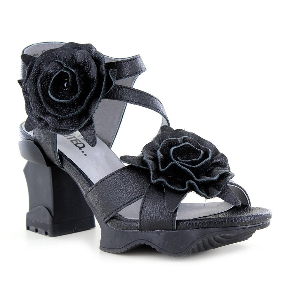 9fc2d505f03ec Arcmanceo 01 Womens Leather Sandals - Black