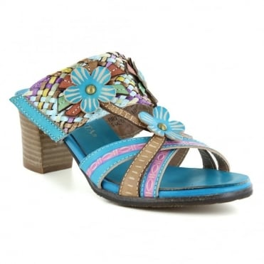 Laura Vita Bethune 18 SD3012-18 Womens Slip-On Sandals - Turquoise