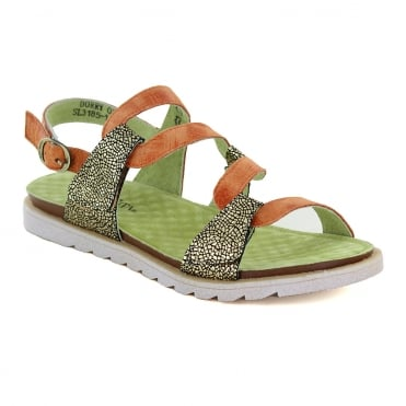 Laura Vita Dorry 01 SL3185-1 Womens Leather Sandals - Orange