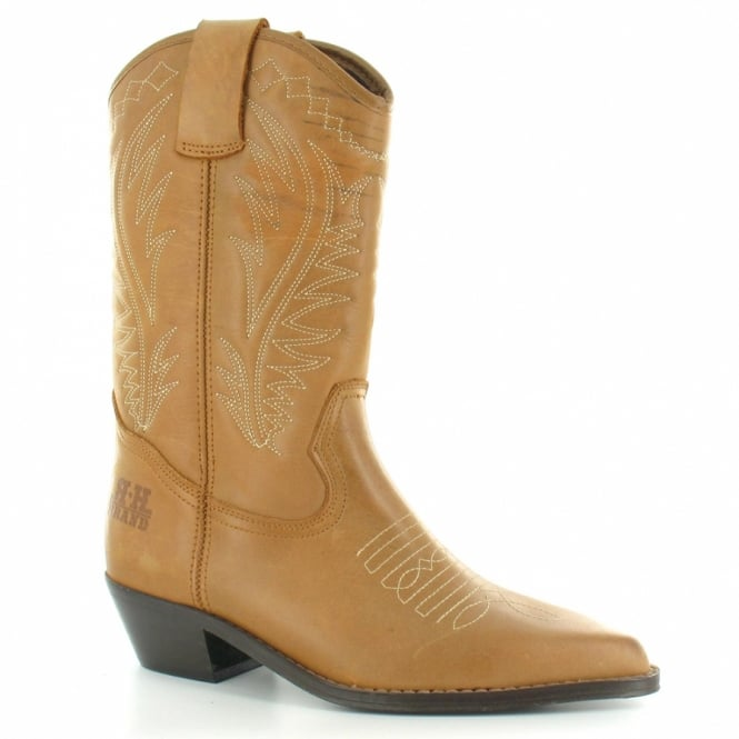 loblan 10568 womens leather mid calf cowboy western boots