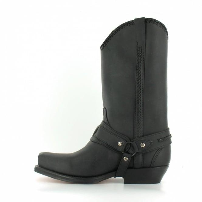 06b7b95572d 548 Mens Leather Western Cowboy Boots - Black