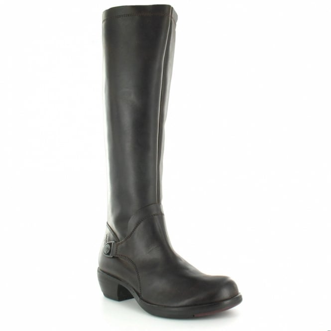49412953263f Fly London Mistry Womens Leather Tall Boot - Dark Brown