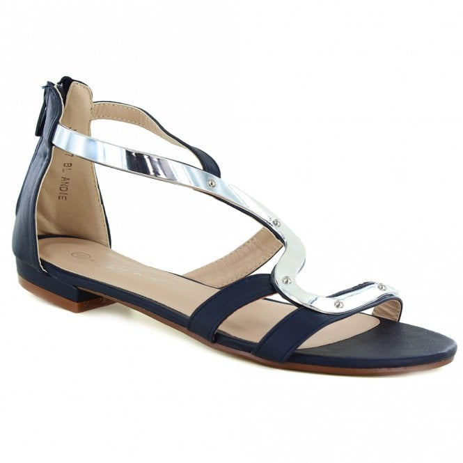 d9177a9fd38 Lunar Andie Womens Gladiator Sandals - Navy Blue