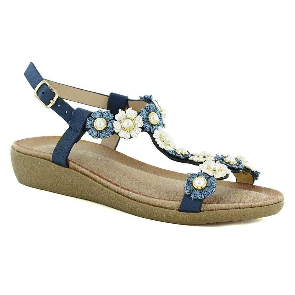 Shelly Blue Womens Sandals Floral Lunar bf76IYvgy