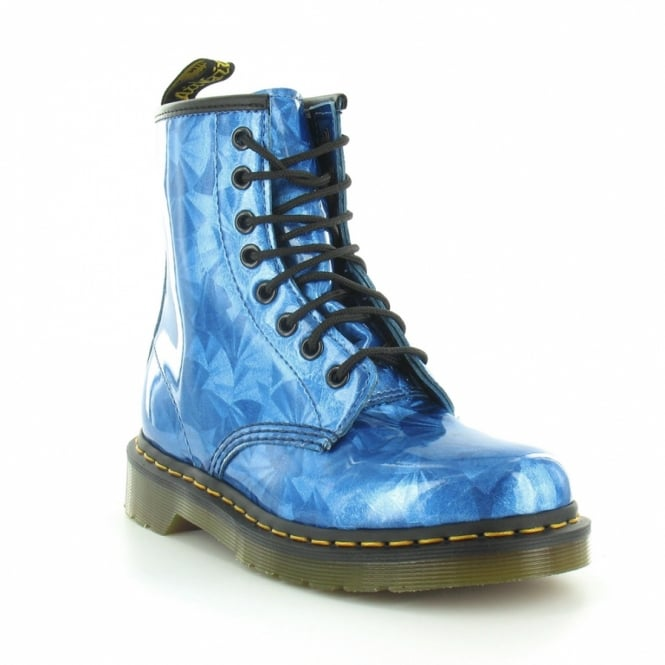 Dr Martens 1460 Sapphire Jewel Womens 8-Eyelet Ankle Boots - Sapphire Blue