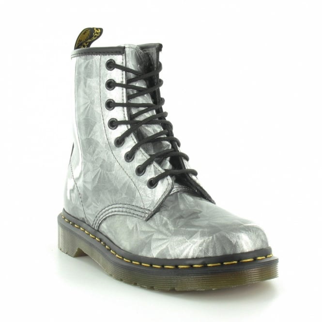Dr Martens 1460 Silver Jewel Womens 8-Eyelet Ankle Boots - Silver ... d7b18f4f7c97