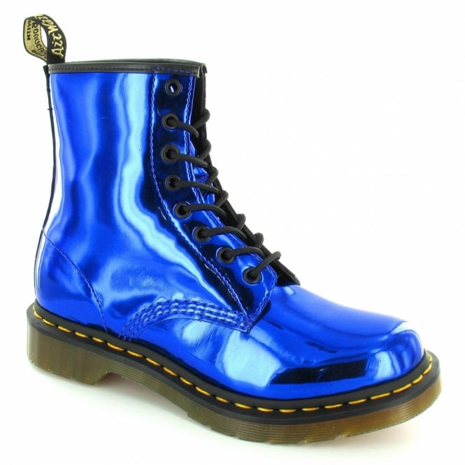 Dr Martens 1460 Womens Koram Flash Metallic Ankle Boots - Electric Blue