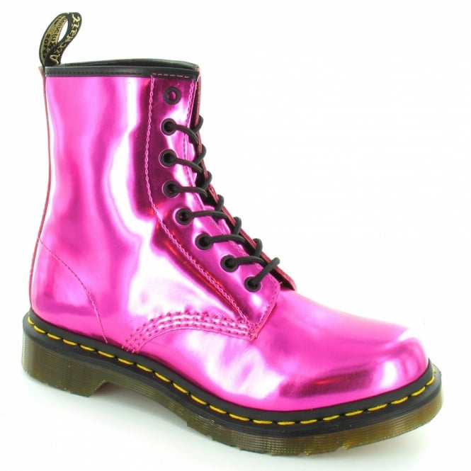 Dr Martens 1460 Womens Koram Flash Metallic Ankle Boots - Hot Pink