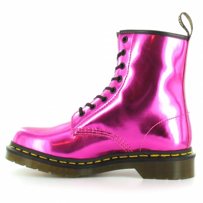 f1b034633181 Dr Martens 1460 Womens Koram Flash Metallic Ankle Boots - Hot Pink ...