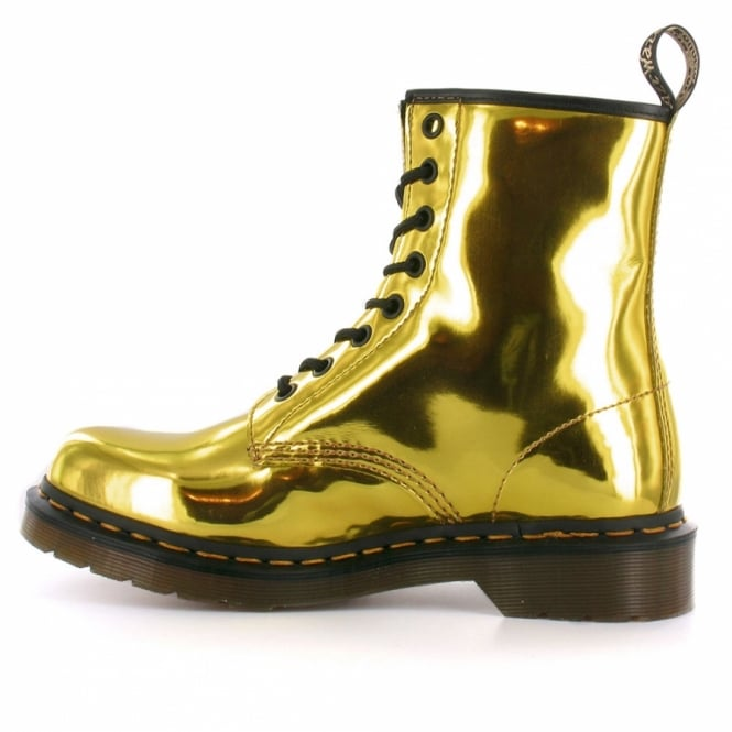 03e81b2bf7d9 Dr Martens 1460 Womens Koram Flash Metallic Ankle Boots - Hot Gold ...