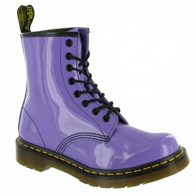 Dr Martens 1460 W Womens Patent Leather Boots - Lilac