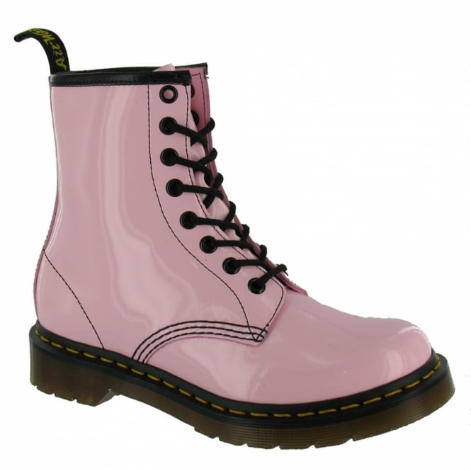 Dr Martens 1460 W Womens Patent Leather Boots Baby Pink