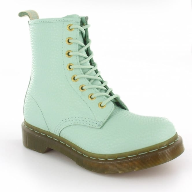 Dr Martens 1460W QQ Pearl Womens 8-Eyelet Boots - Light Mint Green