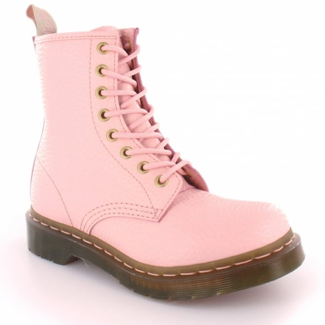 Dr Martens 1460W QQ Pearl Womens Leather 8-Eyelet Boots - Light Pink ... 29c7f24f11dd
