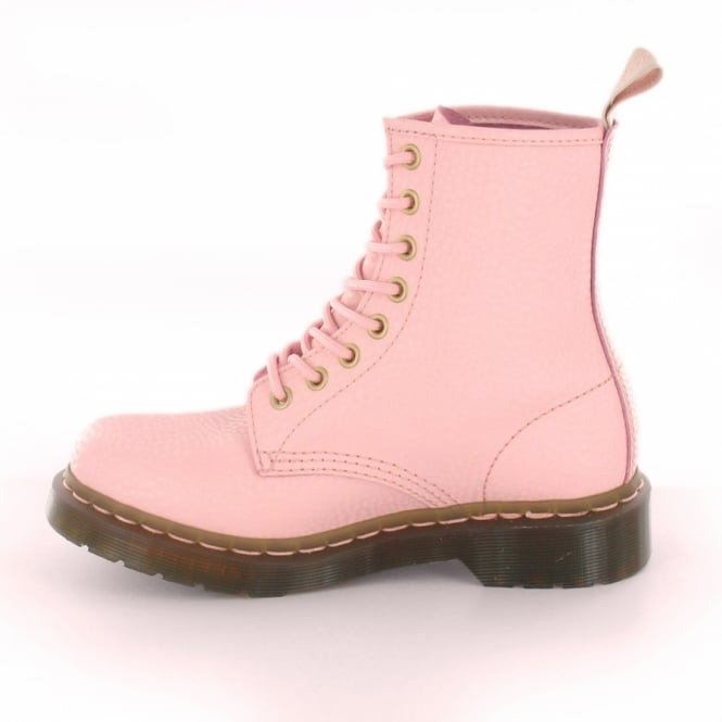 Dr Martens 1460W QQ Pearl Womens Leather 8-Eyelet Boots - Light Pink ... 7a9317632