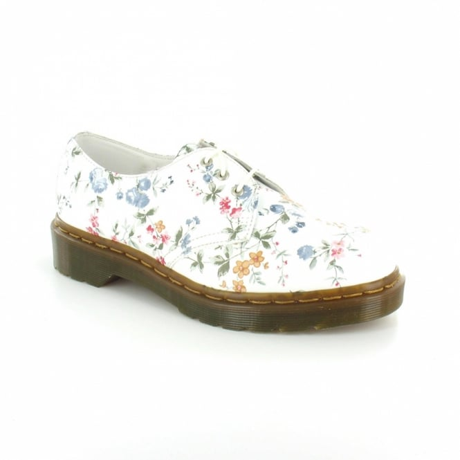Dr martens dr martens 1461 womens leather wild flowers 3 eyelet lace up shoes white floral dr martens 1461 womens leather wild flowers 3 eyelet lace up shoes white mightylinksfo