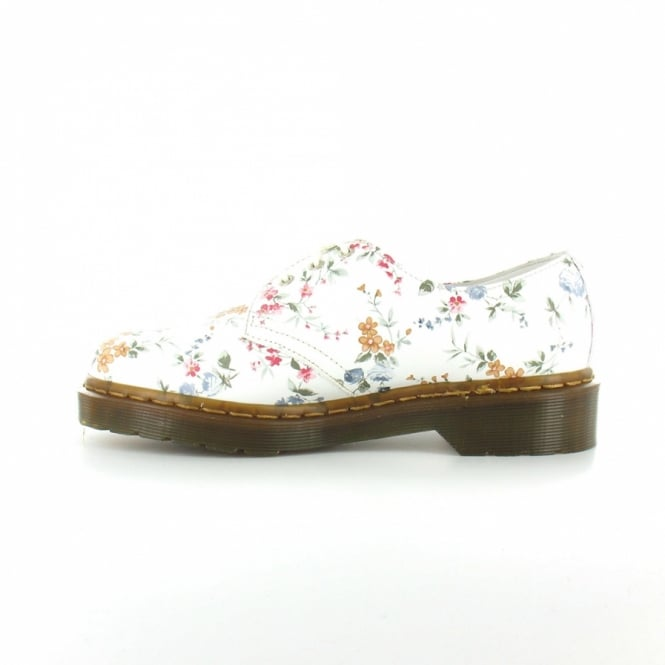 Dr martens 1461 womens leather wild flowers 3 eyelet lace up shoes dr martens 1461 womens leather wild flowers 3 eyelet lace up shoes white mightylinksfo Image collections