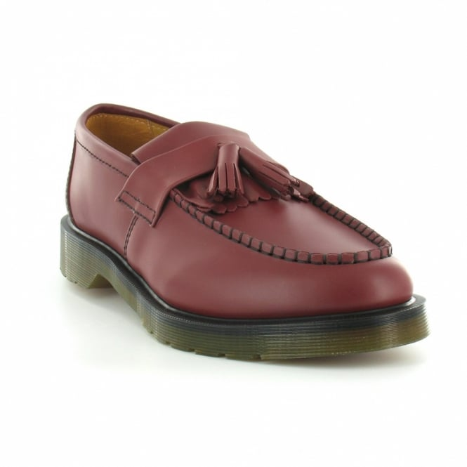 33d6eb5312e Dr Martens Adrian Mens Leather Tassel Loafers - Cherry Red - Formal ...