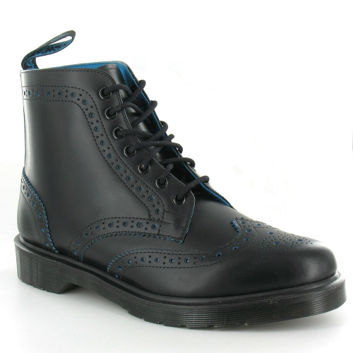 dr martens anthony mens leather brogue boots in black