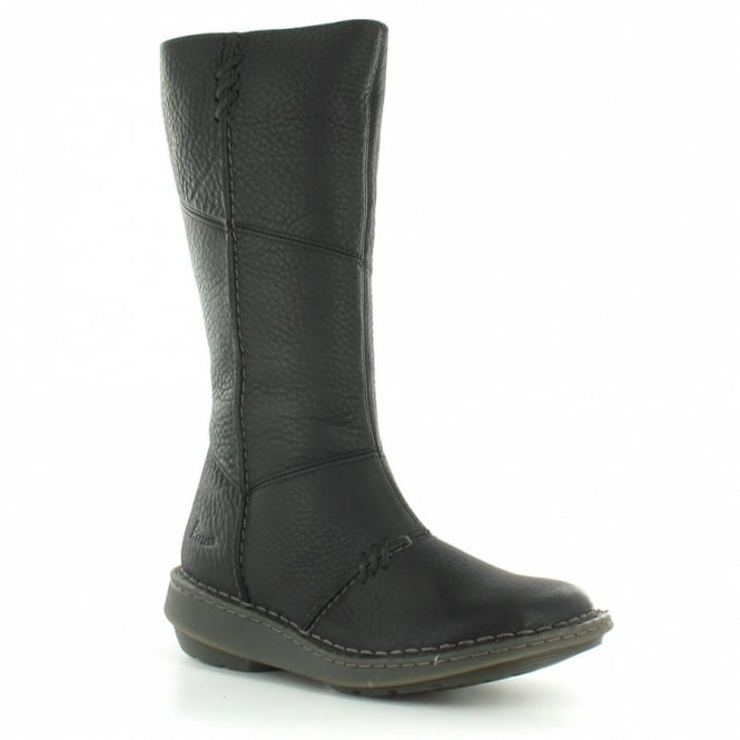 138c9754ff8 New Authentic Wedge Womens Leather Mid-Calf Low Wedge Heel Zip Boots - Black