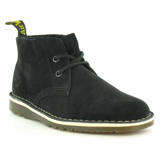 Dr Martens Blythe Womens Suede Leather 2-Eyelet Desert Boots - Black ... b6af37339a