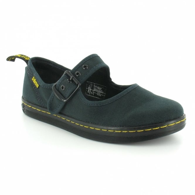 7d4bc173986708 Dr Martens Carnaby Womens Canvas Mary Jane Shoes - Navy Blue ...