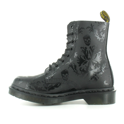 Dr Martens Cassidy Womens Leather Skull Print Ankle Boots