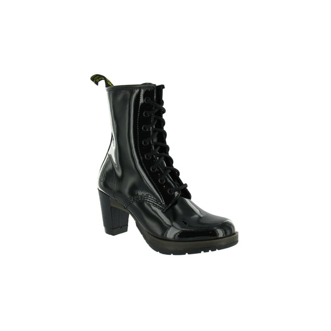 6bb39d3b33f Darcie Womens Patent Leather Boots - Black