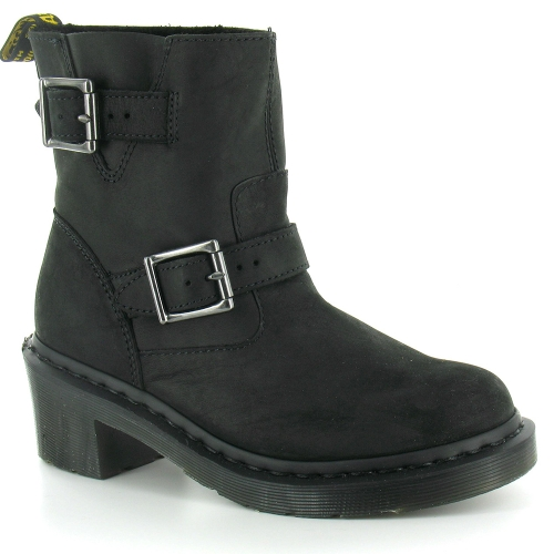dr martens diza womens ankle biker boots in black at