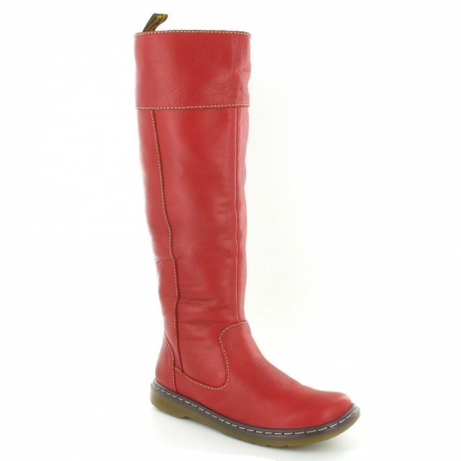 ece595dae83 Elate Haley Womens Leather Tall Boots - Bright Red