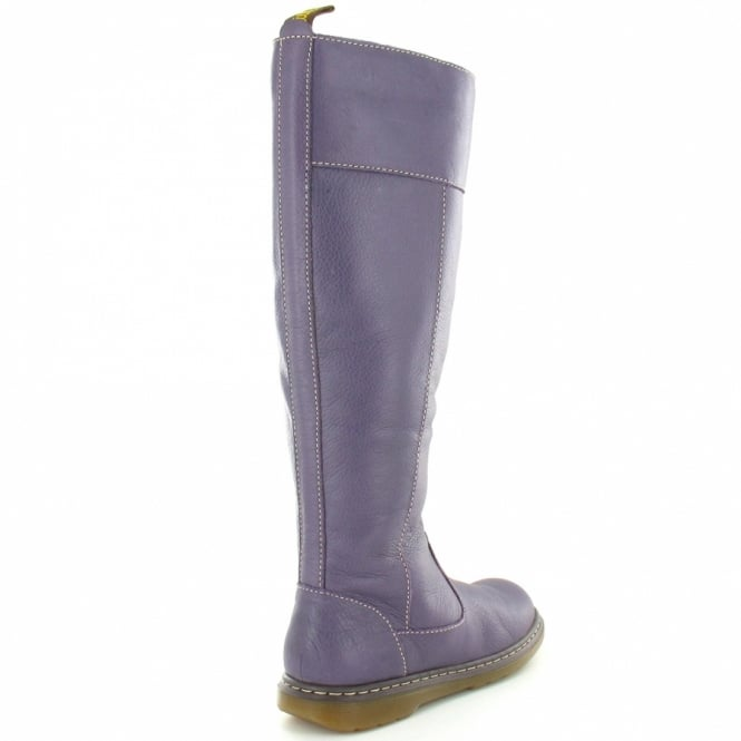9c69ae6bc24 Elate Haley Womens Leather Tall Boots - Purple