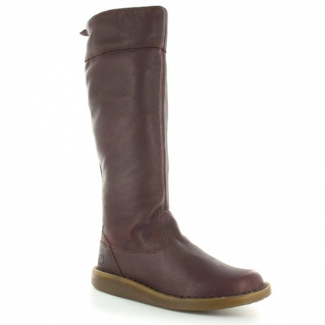 Dr Martens Elena Womens Leather Knee High Zip Flat Boots