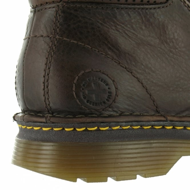 1f45c29c20e Dr Martens Griffin Mens Leather Ankle Boots - Dark Brown - Casual ...