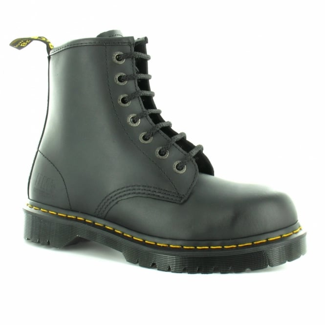 cb27e98c17f Dr Martens Dr Martens Industrial Icon 7B10 Mens Leather 8-Eyelet steel Toe  Cap Boot - Black