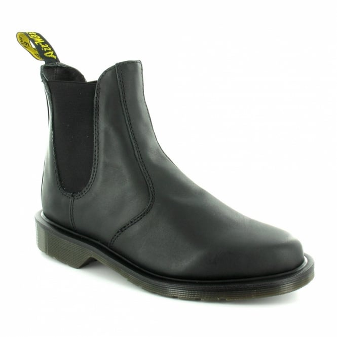 3f0de0233b5 Dr Martens Laura Womens Leather Pull-Up Chelsea Boots - Black ...