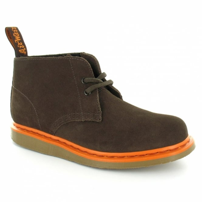 2fdb94c229cb8b Dr Martens Manton Mens Hi Suede Low Ankle Boots - Bitter Chocolate Brown