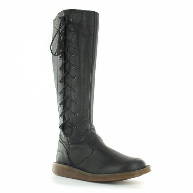 c3070ddb66f Martine Womens Knee High Adjustable Width Flat Boots - Black