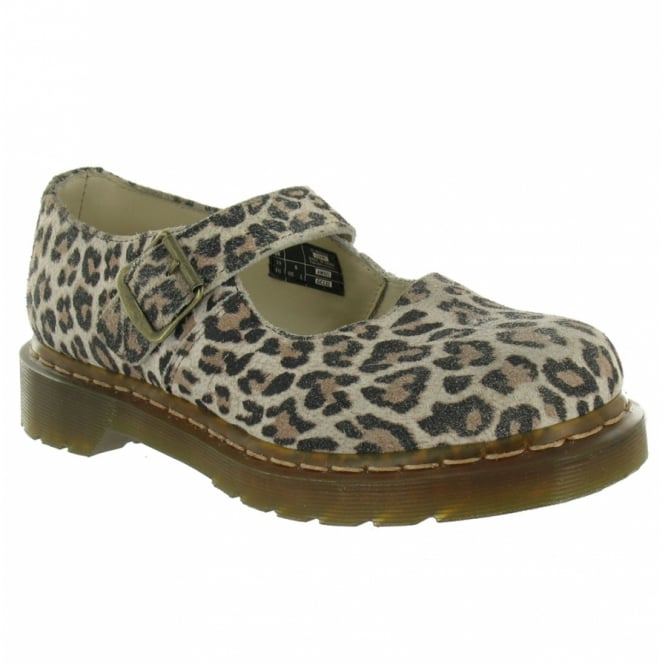 63d48892e14a78 Dr Martens Mary Jane Flats - Snow Leopard - Flat Shoes from Scorpio ...