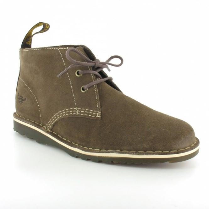 9a3be02291ff32 Dr Martens Dan Mens Suede Leather 2-Eyelet Low Desert Boots - Golden Brown