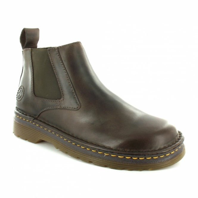 Dr Martens Milton Mens Leather Pull-On Chelsea Boots - Brown ... 1effc957c