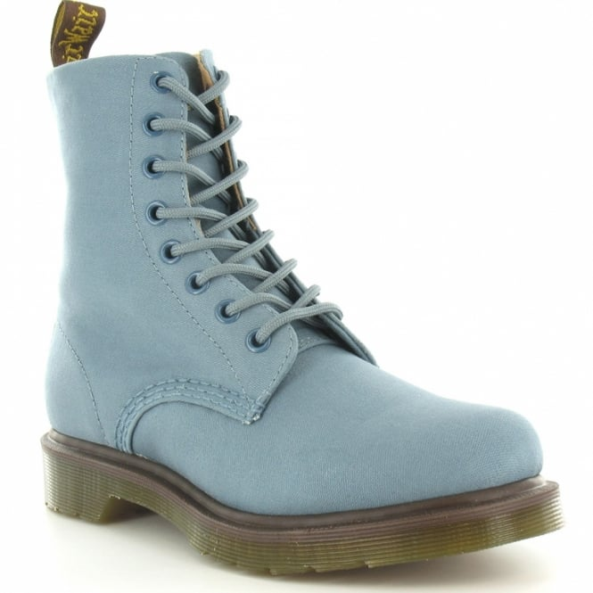 39965ff691c Page Womens Canvas 8-Eyelet Boots - Faded Denim Blue