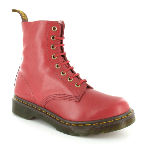 f49bb537d12 Pascal Womens Soft Leather 8-Eyelet Boots - Red