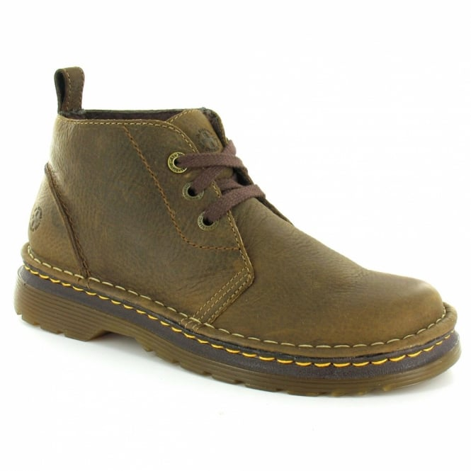 Dr Martens Reed Mens Leather Chukka Boot Dark Taupe Brown Casual